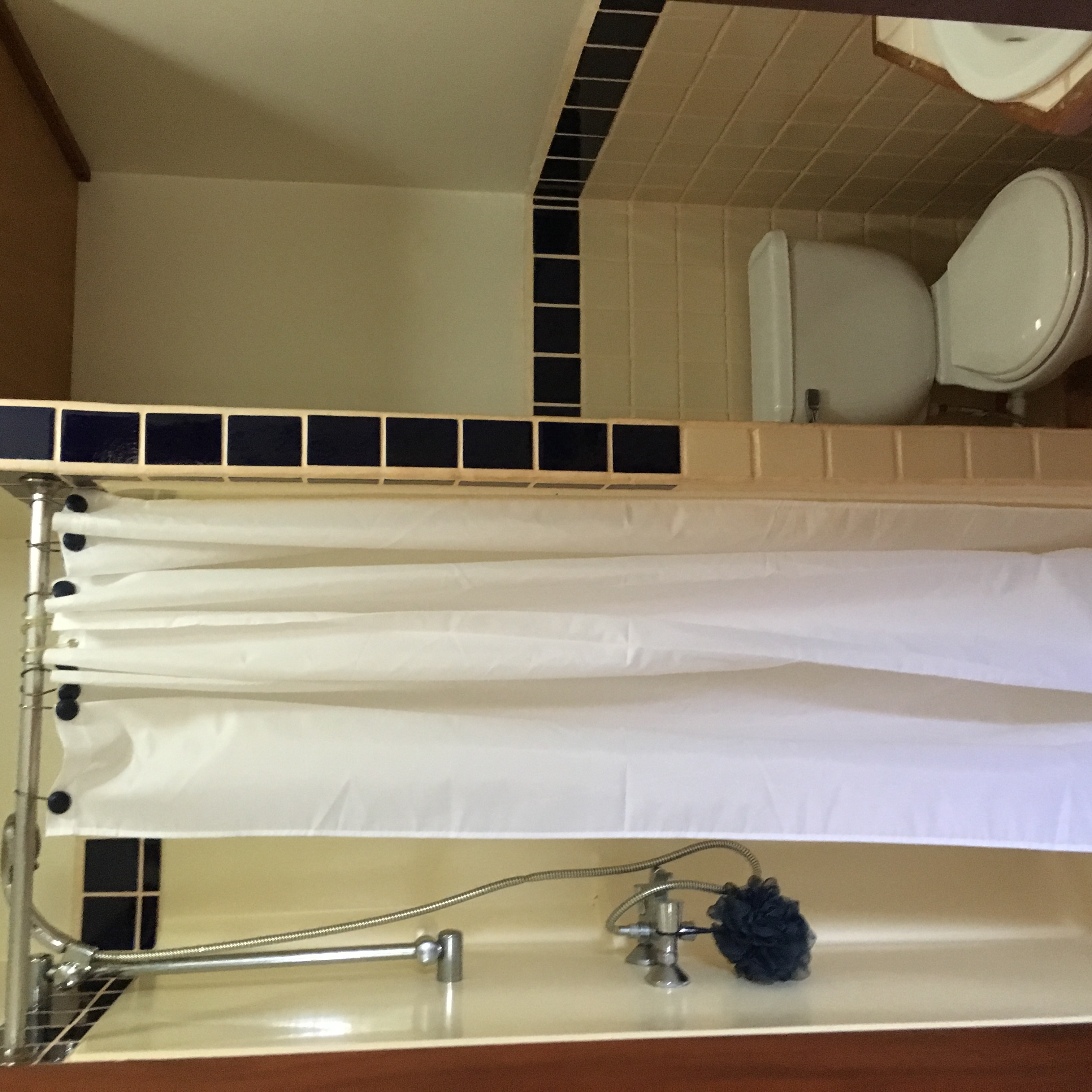one of two upstairs bathrooms