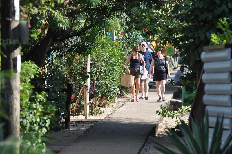 Placencia village boardwalk